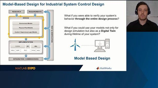 Learn how to leverage simulation models of industrial systems to develop control logic and fault detection algorithms, automatically generate IEC 61131-3 Structured Text or C/C++ code, and perform real-time testing on a real-time target machine.