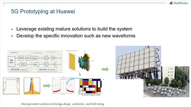 介绍MATLAB的5G解决方案,用于波形生成,链路级仿真,设计验证和测试,并用自动代码生成技术加速实现。