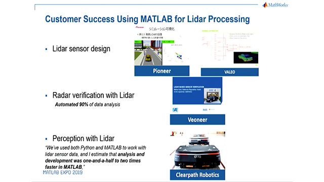 Hear how MATLAB® and Simulink® can acquire and process LiDAR data for algorithm development for automated driving functions such as free space and obstacle detection.