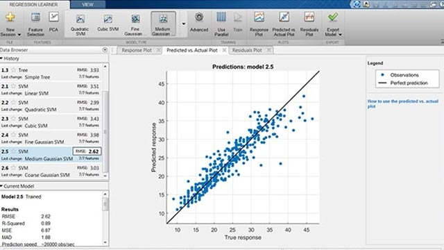 New Regression Learner App in R2017a