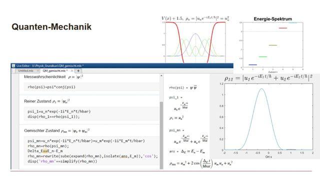 Physik-Grundkurs mit dem MATLAB Live Editor