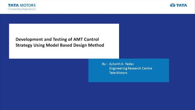 We present the use case of HIL testing of the control strategy for an AMT system using plant models built in Simscape. Simscape enables quick and efficient modeling of multidomain systems.  The control strategy is validated, parameters are calibrated