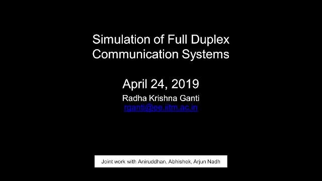 Hear how IIT Madras used Simulink to simulate the entire RF chain and also demonstrate the cancellation of self-interference using a combination of algorithms in the base band and RF units.