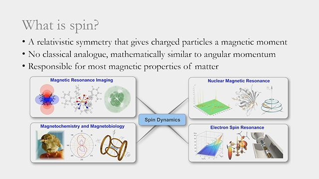 Learn how the Spinach Toolbox, written in MATLAB®, enables thousands of researchers world-wide to run quantum mechanical modelling of magnetic systems.