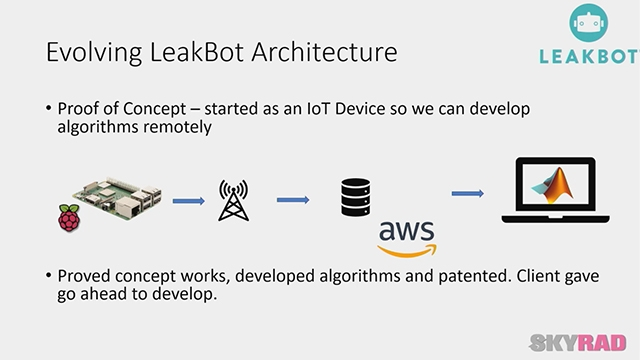 Learn how Skyrad Consulting developed LeakBot and other IoT sensors using MathWorks tools.