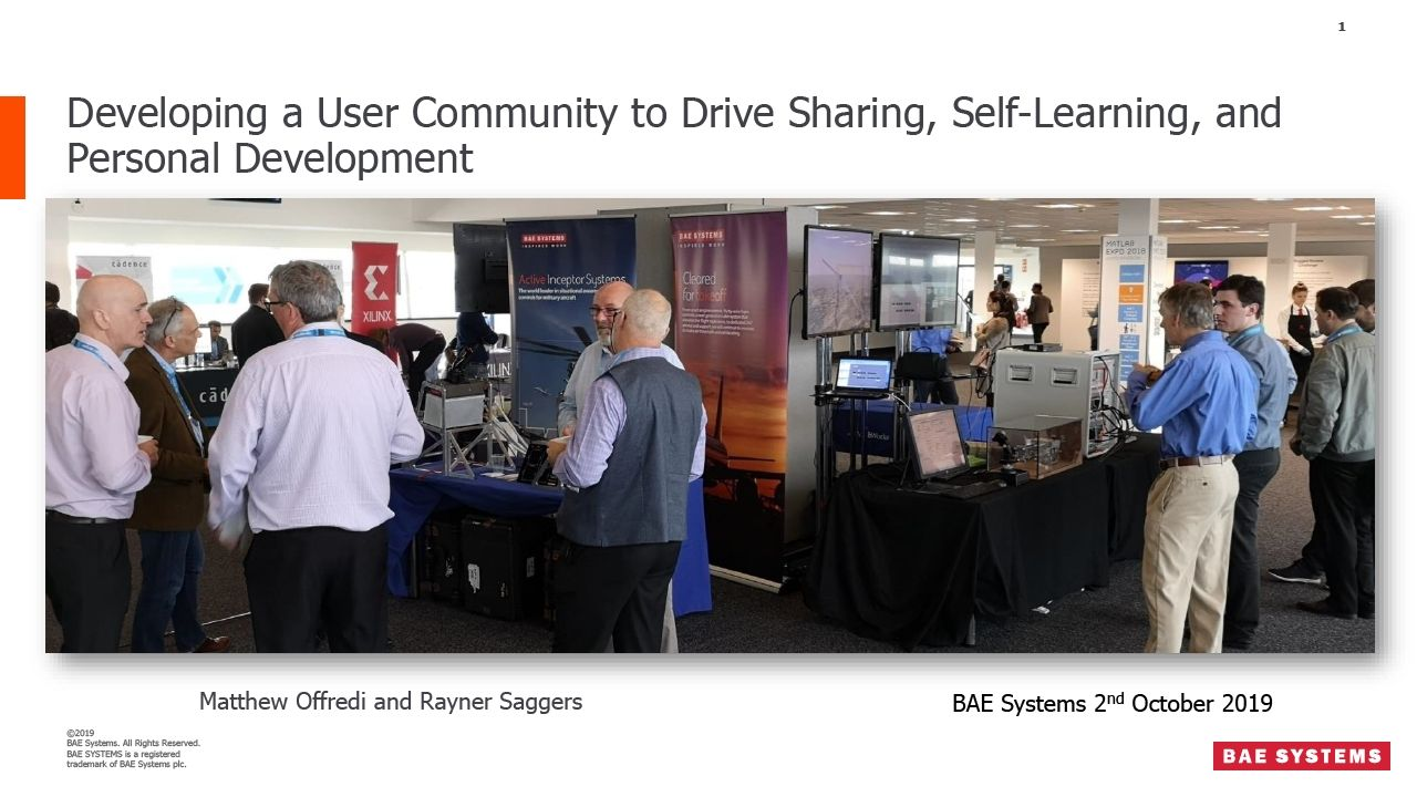 Developing a User Community to Drive Sharing, Self-Learning, and Personal Development